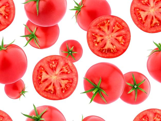 Nahtloses muster mit tomaten
