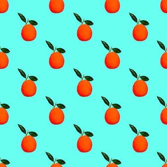 Nahtloses muster. orange. verwendung für t-shirts, grußkarten, geschenkpapier, poster, stoffdruck.