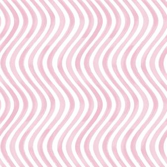 Nahtloses muster. rosa und weißer grunge wellig gestreifter abstrakter geometrischer hintergrund