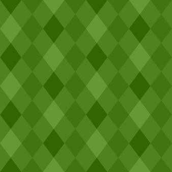 Nahtloses muster von grünen rauten