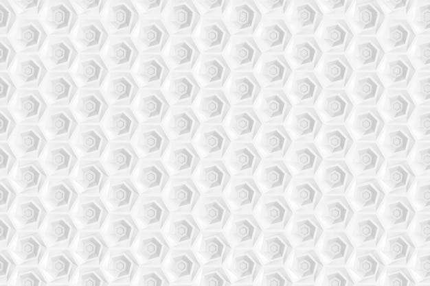 Nahtloses muster von hexagonen und von kreisen basiert auf sechseckigem gitter