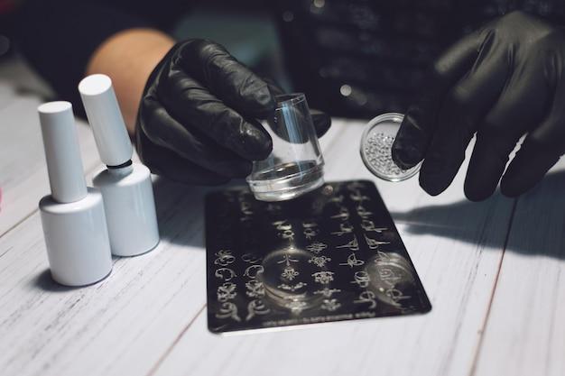 Nail art stamping-prozess
