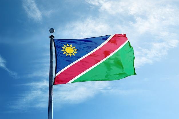 Namibia flagge am mast