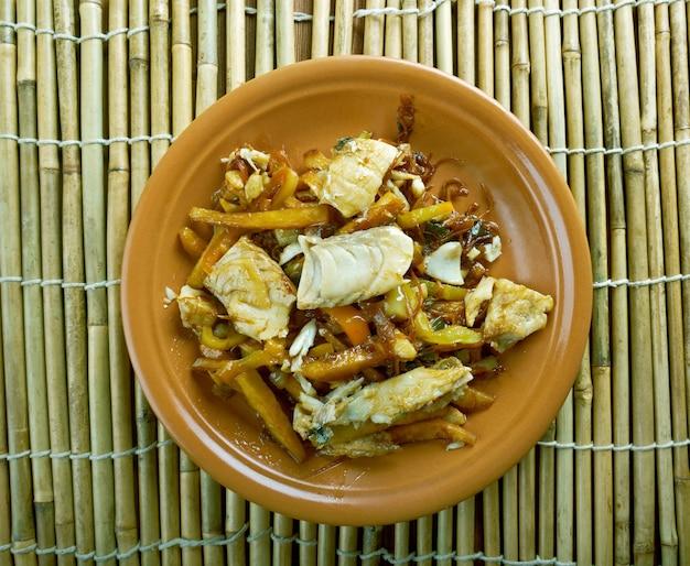 Nanbanzuke japanisches fischgericht