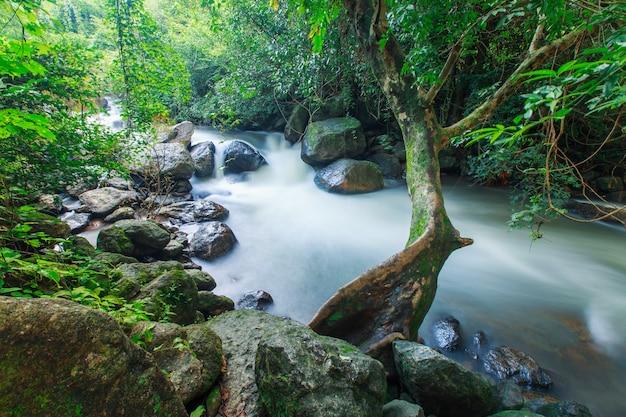 Nang rong wasserfall an nakorn nayok provinz, thailand