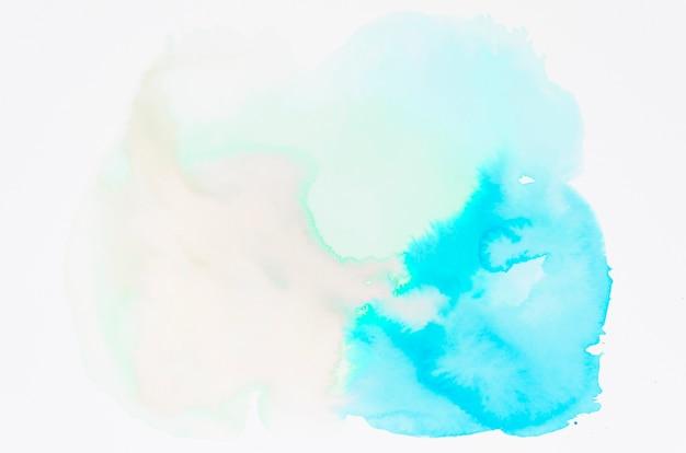 Nasse aquarellstelle auf weißem hintergrund