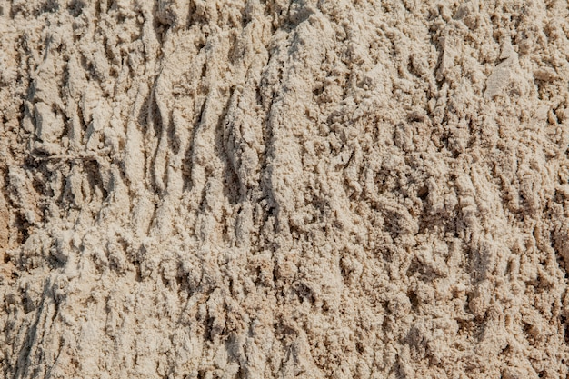Nasse sandbeschaffenheit am strand