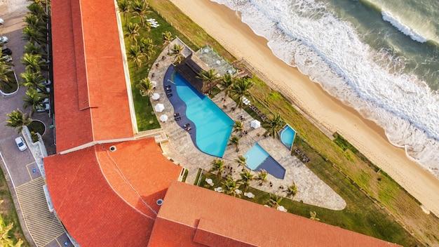 Natal, rio grande do norte, brasilien - 12. märz 2021: luftbild des hotels aram praia marina