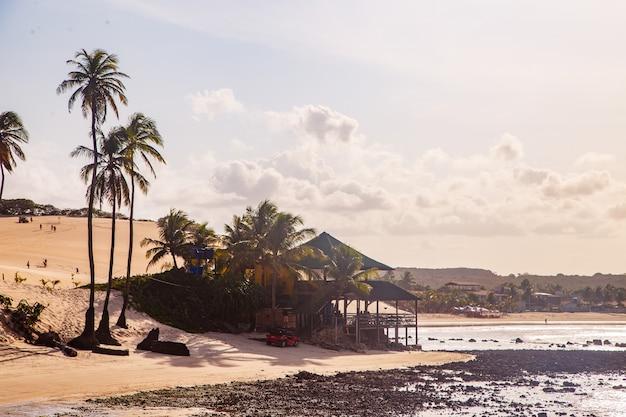 Natal rio grande do norte brasilien - ca. märz 2021: genipabu beach in rio grande do norte