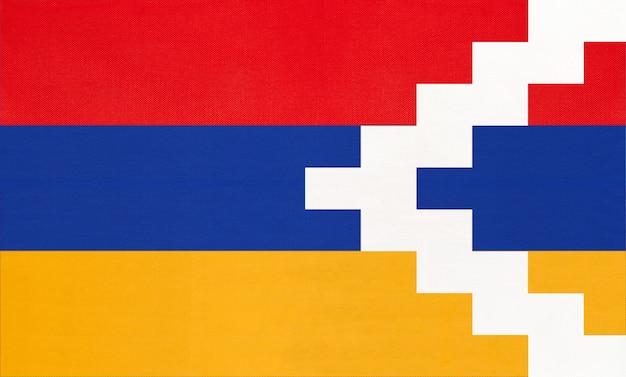 Nationalflagge der republik artsakh