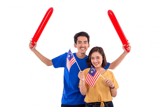 Nationalflagge des malaiischen paares malaysia
