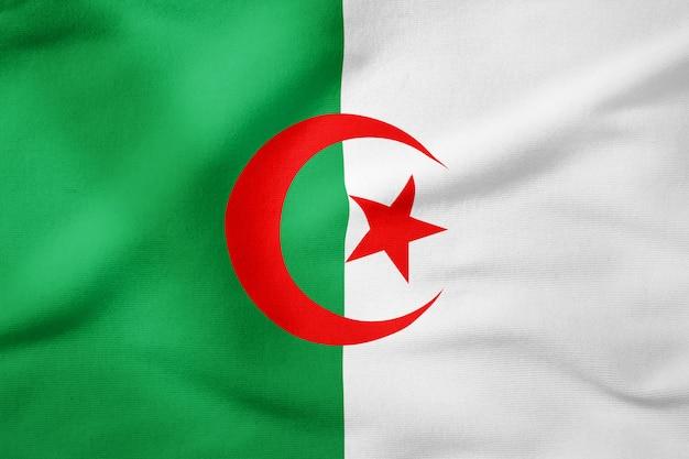 Nationalflagge von algerien - rechteckige form