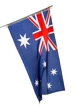 Nationalflagge von australien lokalisiert auf weiß