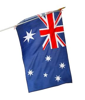 Nationalflagge von australien lokalisiert auf weißem hintergrund