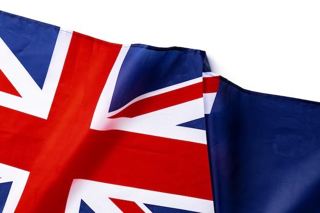 Nationalflagge von australien, stofftextilhintergrund schließen