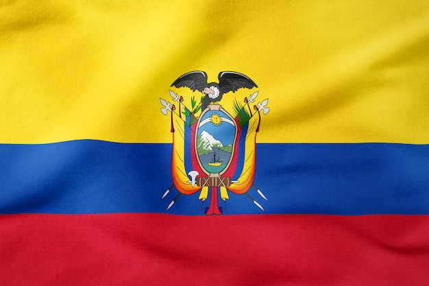 Nationalflagge von ecuador