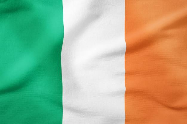 Nationalflagge von irland - patriotisches symbol der rechteckigen form