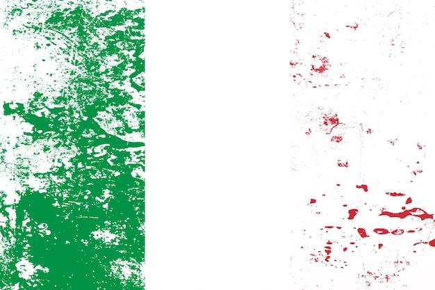 Nationalflagge von italien mit textur. vorlage für design