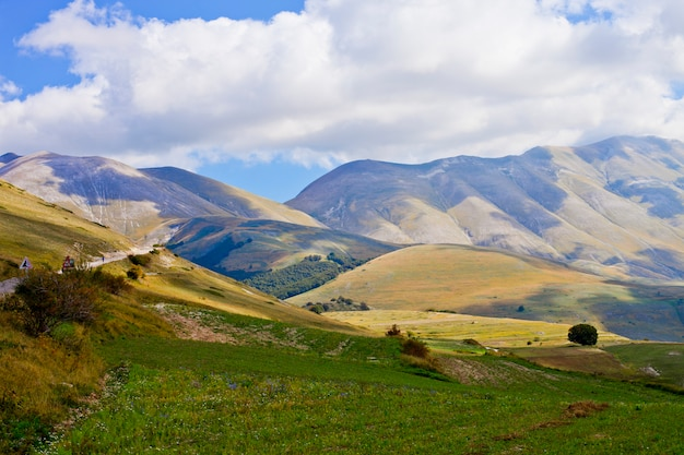 Nationalpark der sibillini berge.