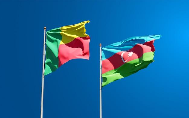 Nationalstaatsflaggen von aserbaidschan und benin