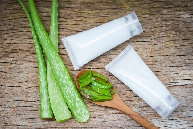 Natürliche aloe vera und lotionscremes