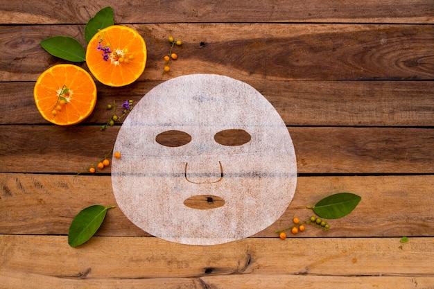 Natürliche blattmaske für die haut gesichtsextrakt orangenfrüchte