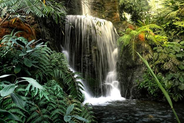 Natürliche dekoration des innenwasserfalls