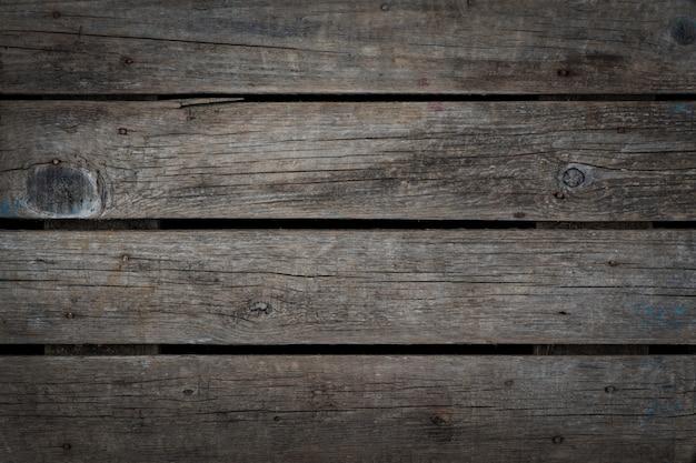 Natürliche graue burnout gealterte hölzerne hintergrundbeschaffenheit. horizontal. vignette
