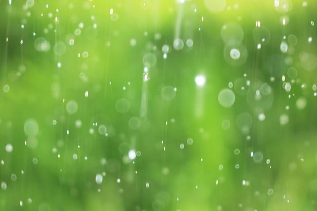 Natürliche grüne kulissen und spritzwasser.