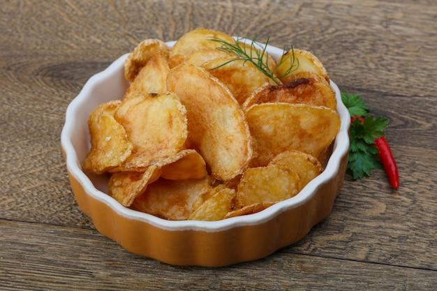 Natürliche kartoffelchips