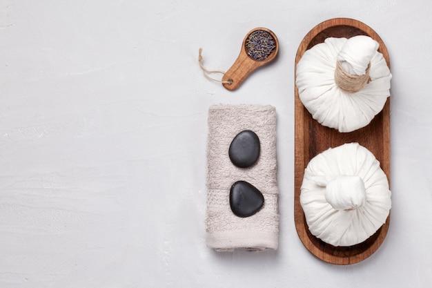 Natürliche körperpflege und spa-konzept