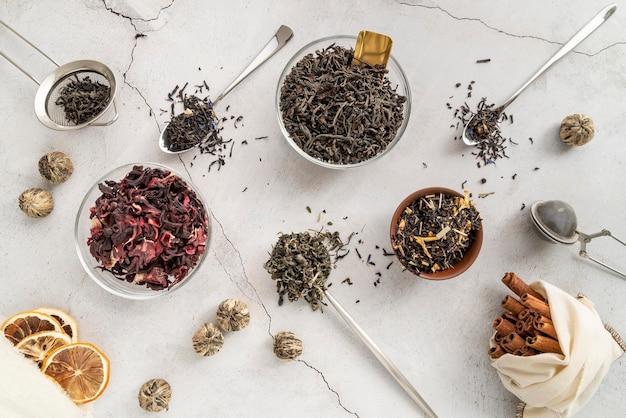 Natürliche kräuter für tee
