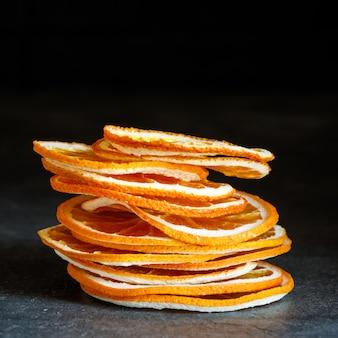 Natürliche orangen getrocknete geschnittene kandierte früchte