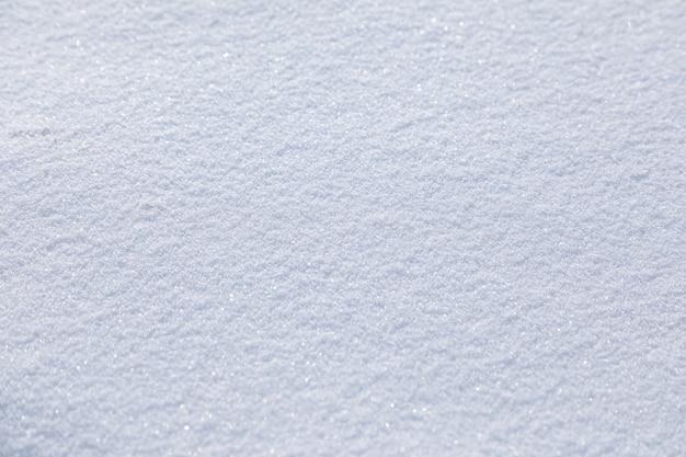 Natürliche schneestruktur glatte oberfläche von sauberem neuschnee verschneiter boden