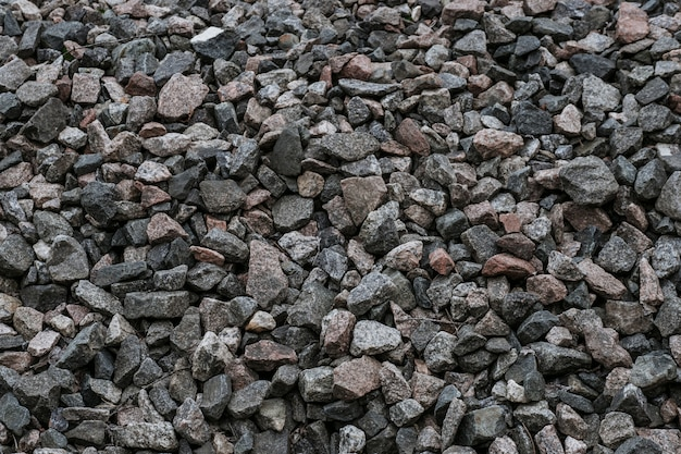 Natürliche schottersteine