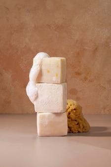 Natürliche selbstpflegeprodukte anordnung