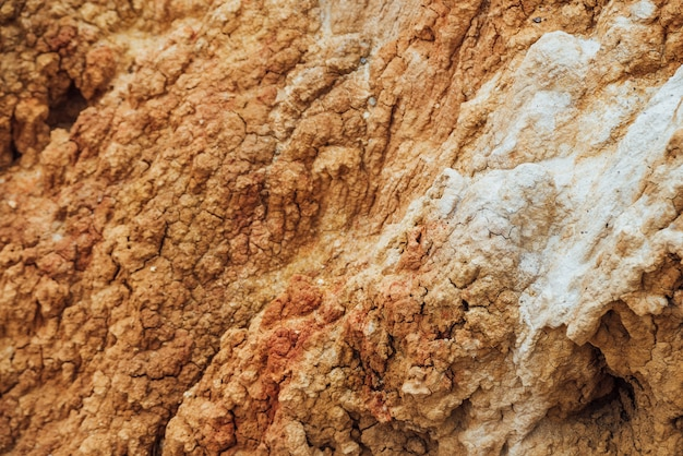 Natürliche textur des bodens mit rissen