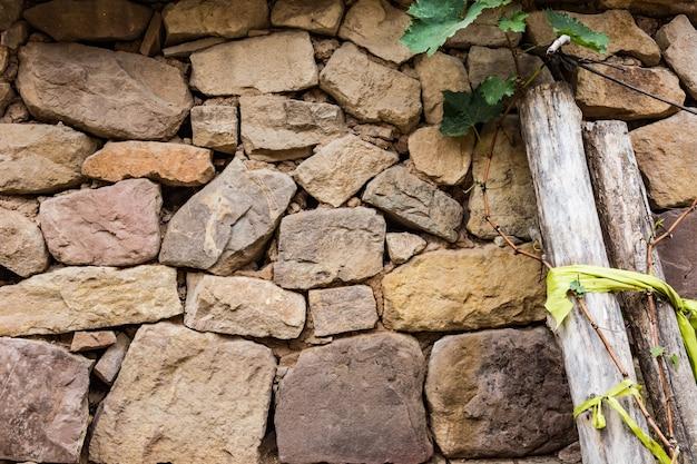 Natürliche wand aus steinen