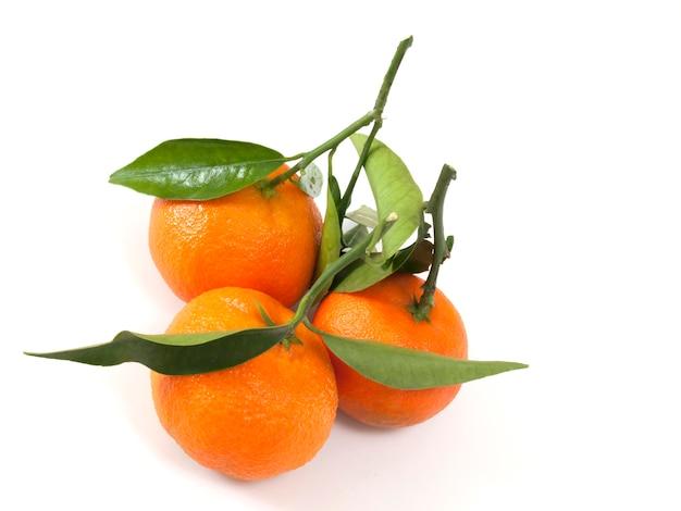 Natürliche zitrusfruchtklementine auf weiß