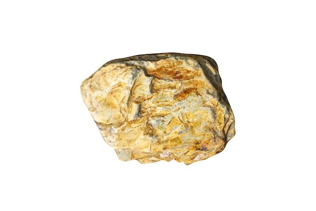 Natürlicher meeresstein isoliert auf weißem hintergrund. kiesel für das design. foto in hoher qualität