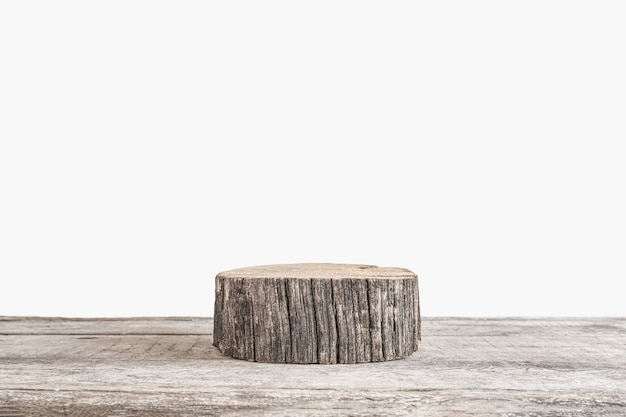 Natürlicher natürlicher hintergrund für kosmetik eine minimalistische komposition mit einem holzpodest