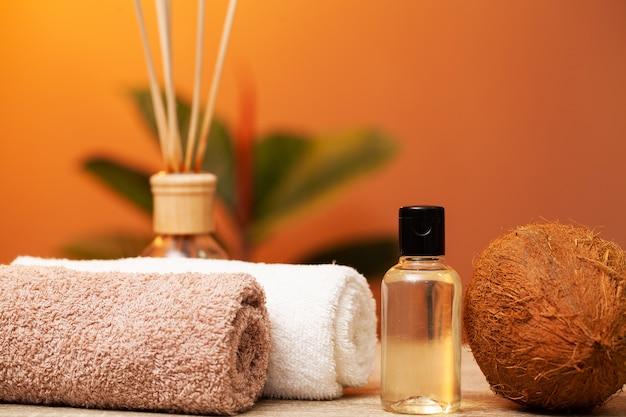 Natürliches bio-kokosöl für die hautpflege
