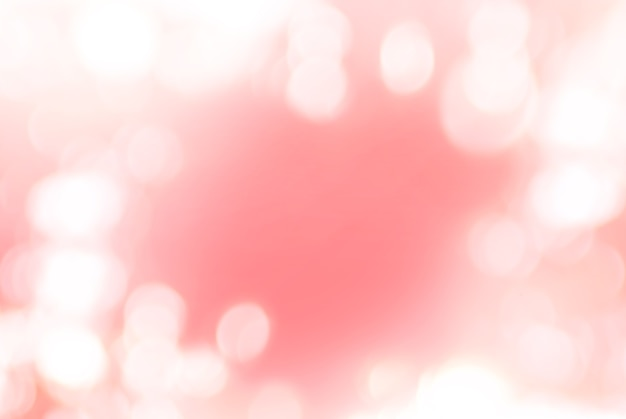 Natürliches foto bokeh lokalisiert auf weicher roter farbe