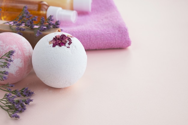 Naturkosmetik und home spa konzept