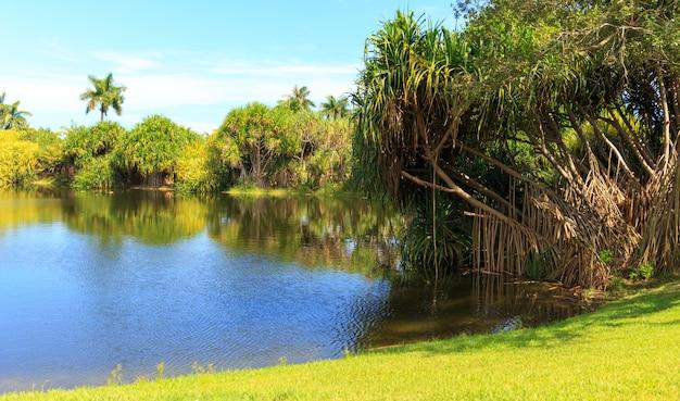 Naturpark mit lagune