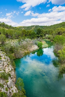Naturpark zwischen valencia und cuenca im spanischen naturschutzgebiet