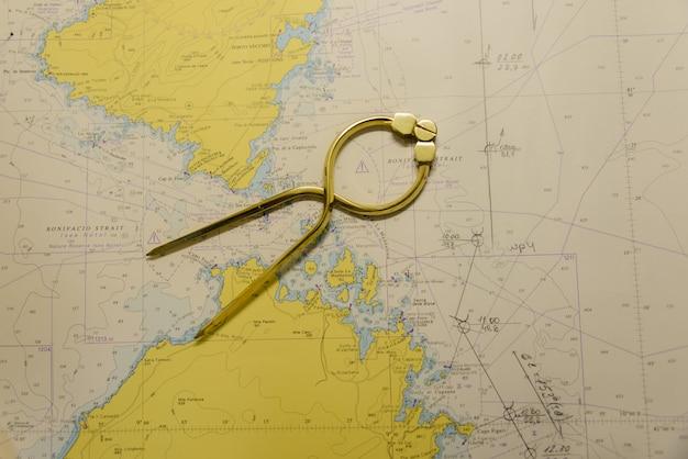 Navigationskarte und teiler