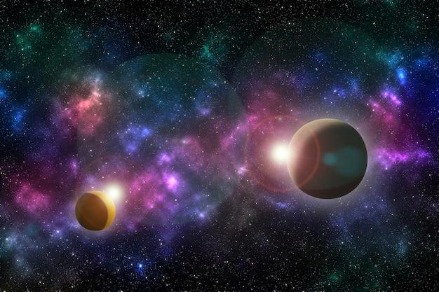 Nebel und galaxien im weltraum
