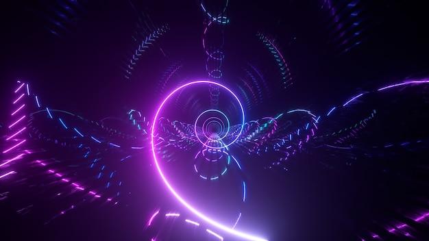 Neigungsspiral-metalltunnel mit farbverlauf