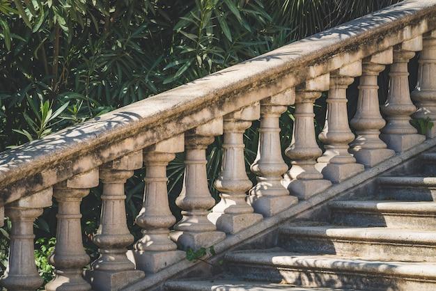 Neoklassizistische steinbalustrade